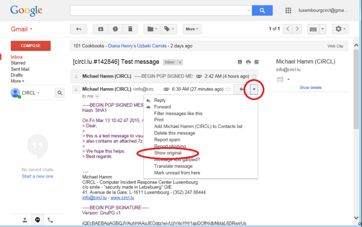 Google Webmail Screenshot