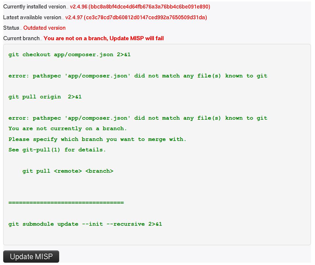 FAQ · User guide of MISP Malware Information Sharing Platform, a