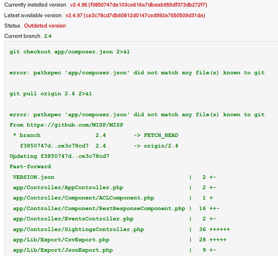FAQ · User guide of MISP Malware Information Sharing